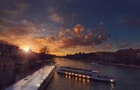Bateaux Mouches Sunset Fine Art Print