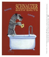 Schnauzer Bath Salts Framed Print