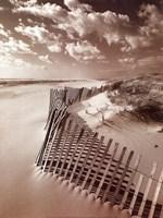 Klug Beach Fence Fine Art Print