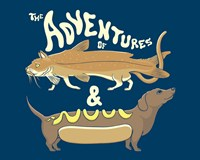 Catfish Wienerdog Fine Art Print