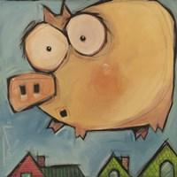 Flying Pig First Flight Fine Art Print