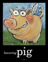 Hovering Pig Fine Art Print