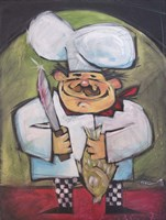 The Fish Chef Framed Print