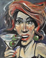 Woman With Martini Fine Art Print