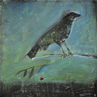 Blackbird Red Berry Fine Art Print