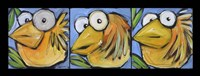 Gold Bird Trio Fine Art Print