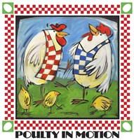 Poultry In Motion Poster Framed Print