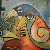 Trois Oiseaux Fine Art Print