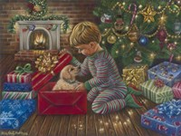 A Golden Christmas Fine Art Print