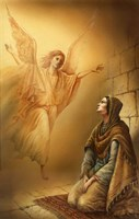 Angel and Mary Fine Art Print