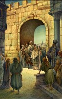Jesus Enters Jerusalem Fine Art Print