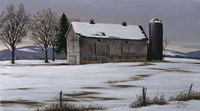 Winter Barn Fine Art Print