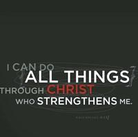 Philippians 4v13 Fine Art Print