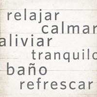 Spa Retreat I Espanol Framed Print