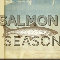 Salmon Season Framed Print