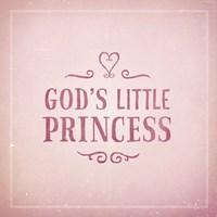 God's Little Princess Fine Art Print