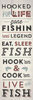 Fishing Typography Fine Art Print