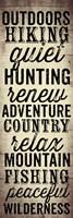 Hunting and Fishing Typography II Fine Art Print