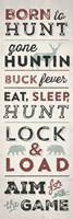 Hunting Typography Framed Print