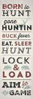 Hunting Typography Fine Art Print
