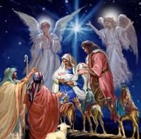 Nativity Collage 1 Fine Art Print