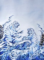 The Crashing Waves Fine Art Print