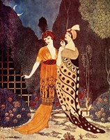Barbier Two Ladies Under the Crescent Moon Fine Art Print