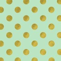 Golden Mint Dots Fine Art Print