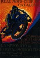 Real Moto Club de Cataluna Fine Art Print