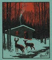 Winter Cabin Fine Art Print