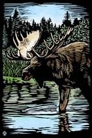 Moose 5 Framed Print