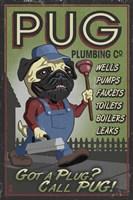 Pug Plumbing Co. Framed Print