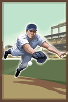 Vintage Baseball IV Framed Print