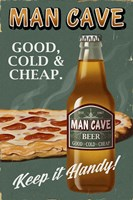 Man Cave Beer Fine Art Print