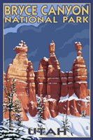 Bryce Canyon - Winter Fine Art Print