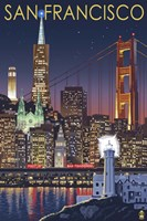San Francisco Night Fine Art Print
