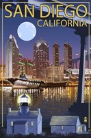 San Diego Night Fine Art Print