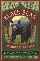 Black Bear Pale Ale Fine Art Print
