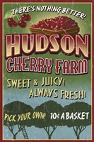 Hudson Cherry Farm Framed Print