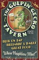 The Gulpin' Gecko Fine Art Print