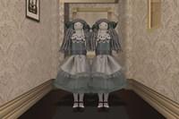 Twins in the Hallway Fine Art Print