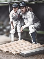 Babe Ruth and the Bat Boy Fine Art Print