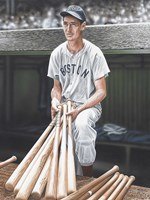 Ted Williams on Deck Fine Art Print