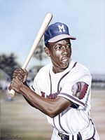 Hank Aaron on Deck Fine Art Print