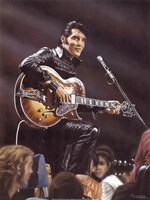 Elvis in Leather Fine Art Print