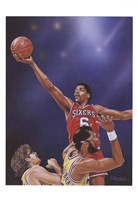 Dr. J Going to the Rim Fine Art Print