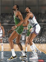 Wilt Chamberlin and Bill Russell Fine Art Print