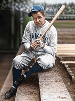 Babe Ruth Sitting on Top Step Fine Art Print