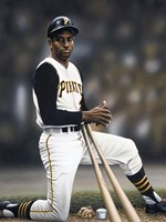 Roberto Clemente on Deck Fine Art Print