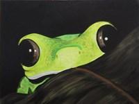 Peeking Frog Fine Art Print